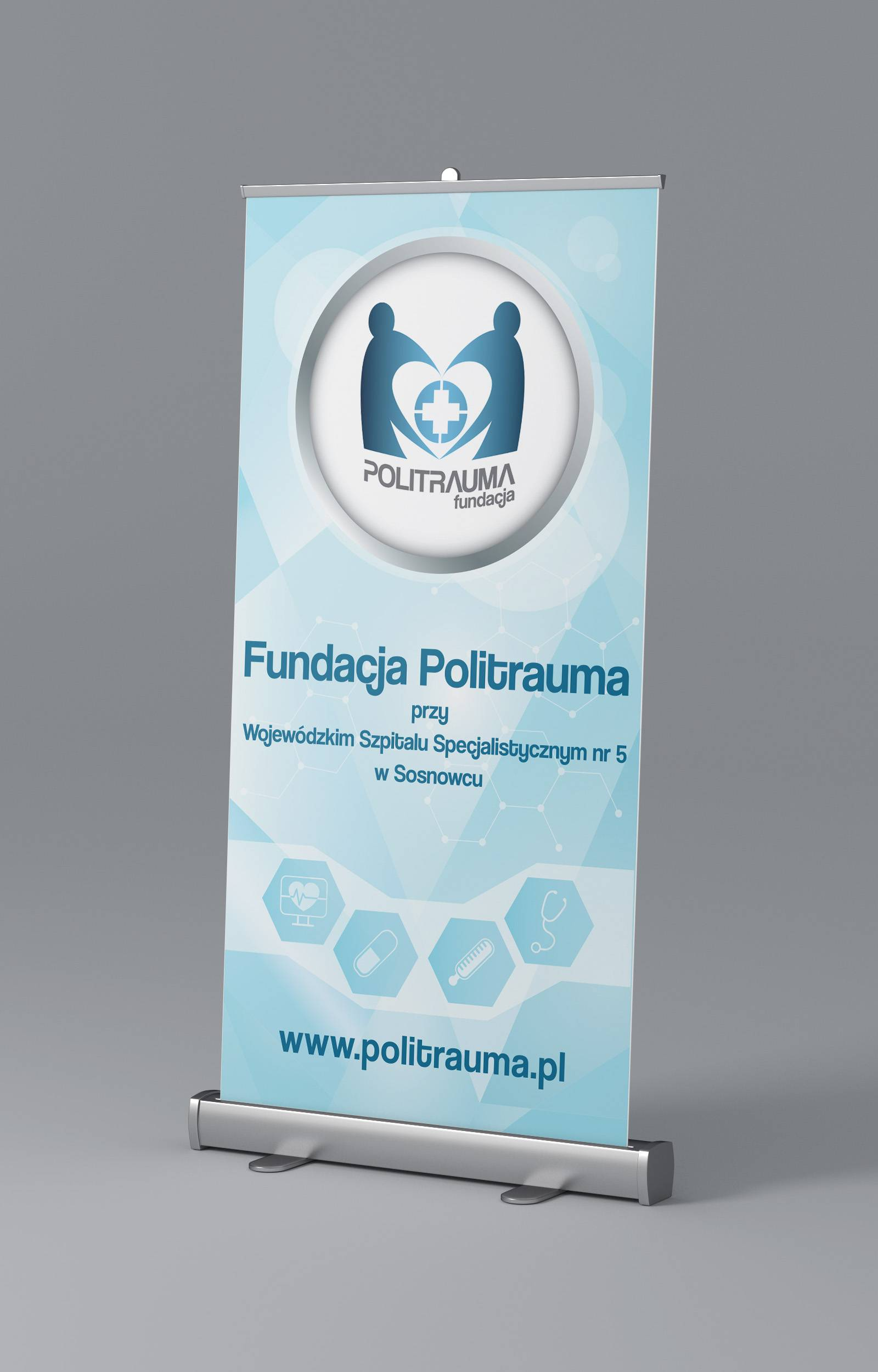 roll-up 100 x 200 fundacja politrauma